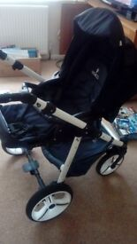 Vennici single buggy in black used but in good condition, general signs of wear and tear