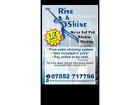 Window cleaning by waterfed pole covering all West Yorkshire Half price first clean