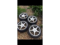 Wolf race alloy wheels and tyres (17inch)
