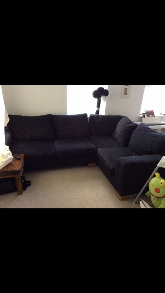 Next Dark Grey Corner Sofa - 3 Years old