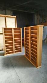Pair of cd/book shelves storage units