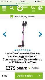 Shark duo clean cordless hoover true pet vacuum