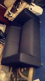 2 black couches for sale