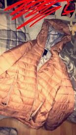 New look rose gold coat