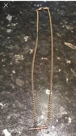 9ct Rose Gold T Bar Chain