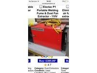Electac portable welding fume and dust fan extractor