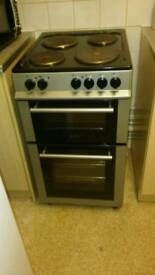 Silver and black electric cooker