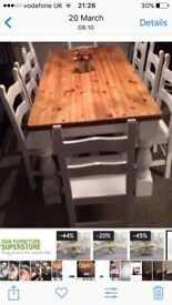 Beautiful Large Table and 8 Chairs