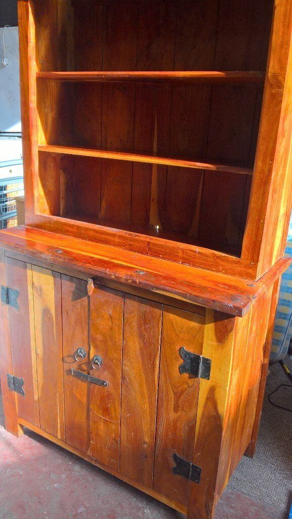 Mexican pine dresser with cupboards underneath
