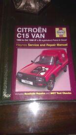 haynes repair manual for citroen c15 diesel