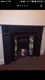 Welsh Slate Antique Fireplace
