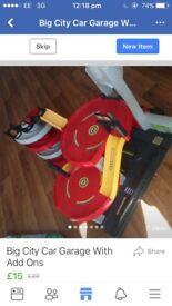 Kids car garage toy play set