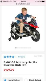 Kids BMW ELECTRIC MOTORBIKE. Been used a cpl of times brand new.