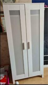 Quality White Wood Ikea Wardrobe Storage Shelf Child Kids Teenager Bedroom Toddler Nursery