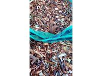 Mulch / woodchip, 10 large 35 litre bags