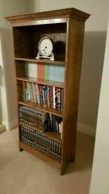 Antique Craftsman Made Solid Oak Bookcase / 4 Adjustable Shelves. 1950's AMAZING WORKMANSHIP