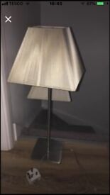Tall beige lamps
