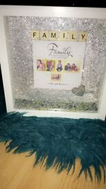 Personalised Glitter Box Frame