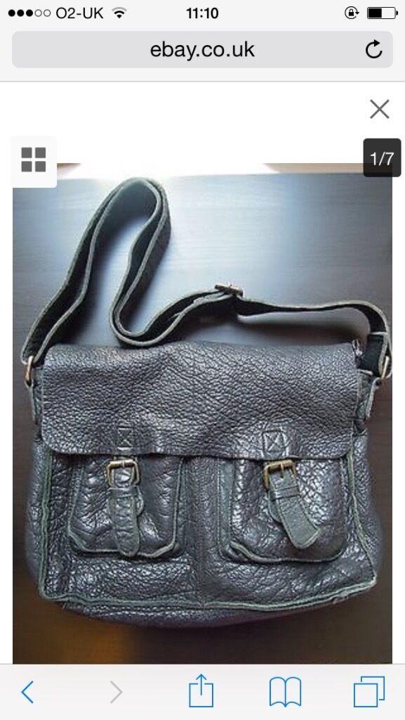 Rowallan Fine Leather Black Bag Shoulder Cross Body