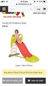 Smoking child's slide