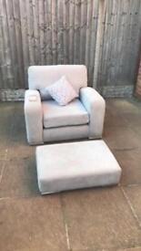 Grey arm chair RRP 449