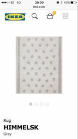 Grey star rug