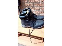 Mens Dunlop steel toe capped work boots black size 9