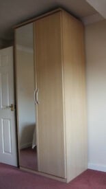 Wardrobe and matching chest of drawers