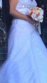 Ladybird white wedding dress size 12
