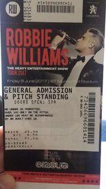 2 x Robbie William tickets