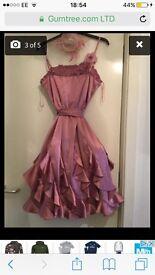 pink dress and fascinator