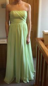 Size 10 Alfred Angelo pistachio dress/bridesmaids dress
