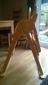 Mothercare East Coast Solid Wooden Highchair!