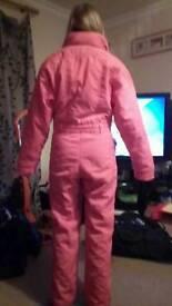 Ladies pink ski suit size 10
