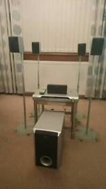 Sony Dvd surround system with speaker stands