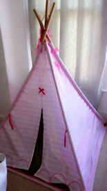 Tee Pee. Girls pink teepee from Smyths. Good condition. 6 months old. Lights included