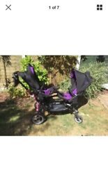 ABC zoom twin double pushchair