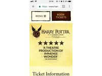 3 tickets -Harry Potter and The Cursed Child part 1&2