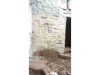 Sandstone for building materials or gardening