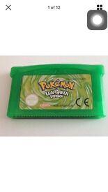 Pokemon Leaf Green Gameboy Advanced EU version