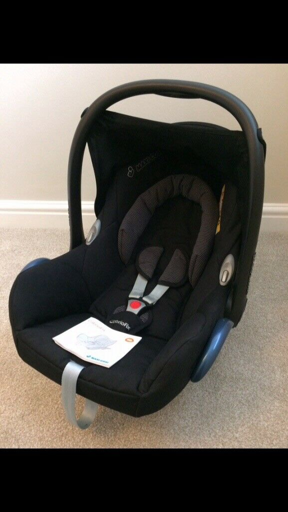 Maxi-Cosi CabrioFix Group 0+ Baby Carseat, Black Raven