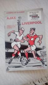1955 Dutch football programme Ajax v Liverpool