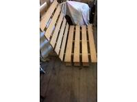 Futon base - pine, double-bed size