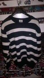 lacoste jumper size large