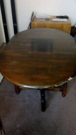 Oval Drop Leaf Gate Leg Dining Table & Four Chairs