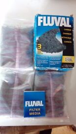 Fluval Carbon - 3 x 100g in net bag for aquariums Fish Tank Filter Media