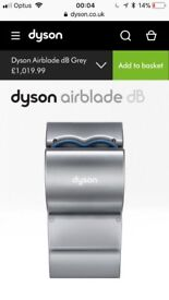 Brand new dyson hand dryer ONO
