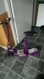 Purple girls electric scooter