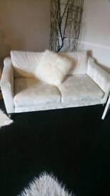 Crush velvet champagne 2 x Seater sofa
