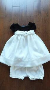 24 Month Black and Ivory Girls Dress